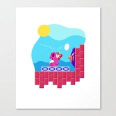 Teeny Tiny Worlds - Super Mario Bros. 2: Birdo Canvas Print