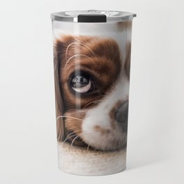 Cute dog with Big Innocent Eyes Travel Mug