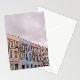Colourful houses in Notting Hill, London Stationery Cards