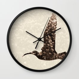 Bird integrated with flowers Wall Clock