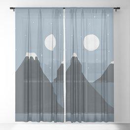 Cat Landscape 44 Sheer Curtain