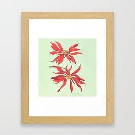 Joanne's Red Flowers Framed Art Print
