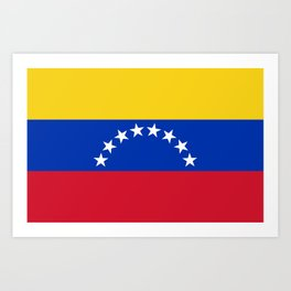 flag of venezuela Art Print