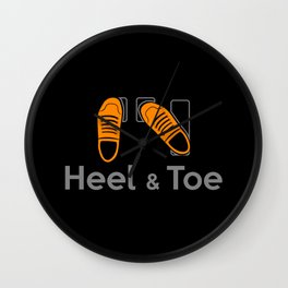 Heel & Toe Wall Clock
