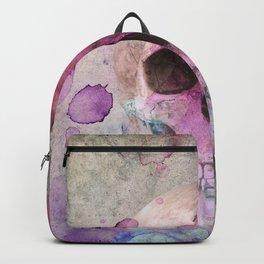 Watercolor Skull Backpack