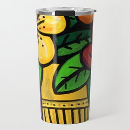 Whimsical Impatien Flowers Travel Mug