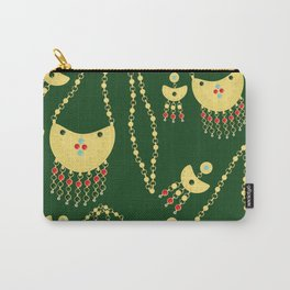 Traditional jewelery green Carry-All Pouch