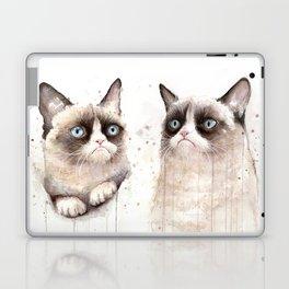 Grumpy Watercolor Cats Laptop & iPad Skin