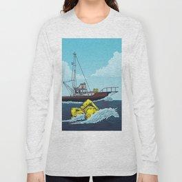 Jaws: Orca Illustration Long Sleeve T-shirt