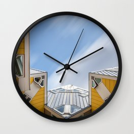 Cube houses in Rotterdam Wall Clock