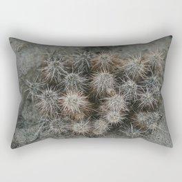 Monochrome Cactus in Joshua Tree National Park, California Rectangular Pillow