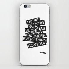Under Control iPhone & iPod Skin