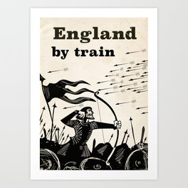 England 1066 vintage travel train poster Art Print