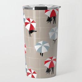 On a rainy day pattern Travel Mug