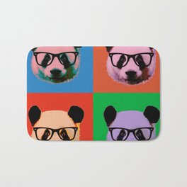 Panda with glasses in 4 Colors Bath Mat