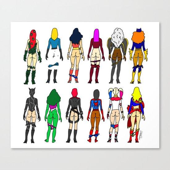 Superheroine Butts LV Canvas Print