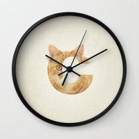 randy c Wall Clocks featuring C. by samellisdesign
