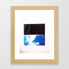SKY/BLK Framed Art Print