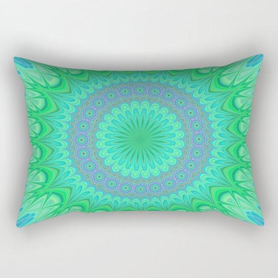Crystal mandala Rectangular Pillow