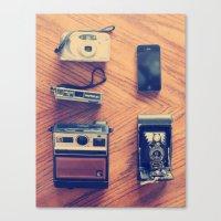 cameras Canvas Prints featuring Cameras by tycejones