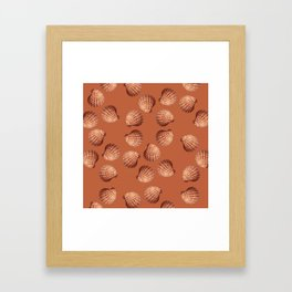 Orange big Clam pattern Illustration design Framed Art Print