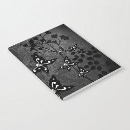 Skullerflies in the garden - dark scale Notebook