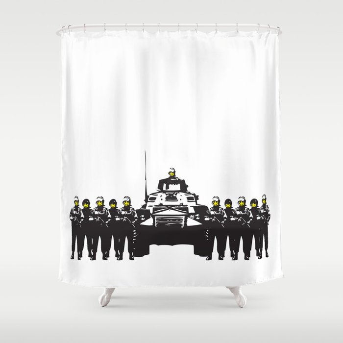 Banksy Have A Nice Day Shower Curtain By Pupkat