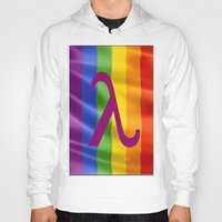 lesbian Hoodies featuring Sappho Lesbian Symbol by SwanniePhotoArt