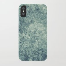 Teal Texture Slim Case iPhone X