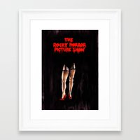 rocky horror picture show Framed Art Prints featuring RHPS by Zombie Rust