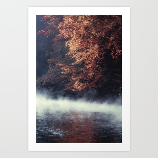 Nature's Mirror - Fall on the River Art Print