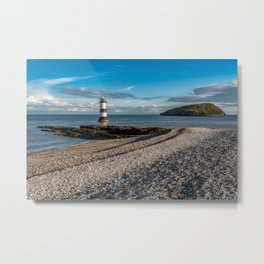Penmon Point Lighthouse Anglesey Metal Print