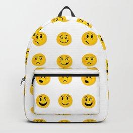 Cute Emoji pattern Backpack