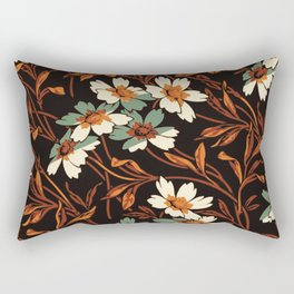 White gothic flowers Rectangular Pillow