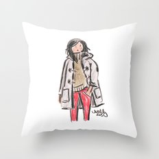 Duffle Coat Throw Pillow