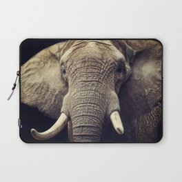 Elephant portrait Laptop Sleeve