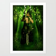 Swinging on a Dream Art Print