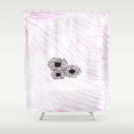flower with pink background Shower Curtain