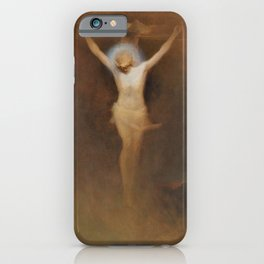 Karl Wilhelm Diefenbach - Christ On The Cross - Digital Remastered Edition iPhone Case