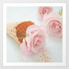 Strawberry Ice Cream Art Print