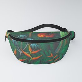 Aves del Paraiso - Birds of Paradise by Miguel Covarrubias Fanny Pack