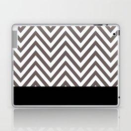 Chevron Striped Seafoam Aqua, Grey, Black Laptop & iPad Skin