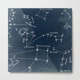 Navy Constellation Metal Print