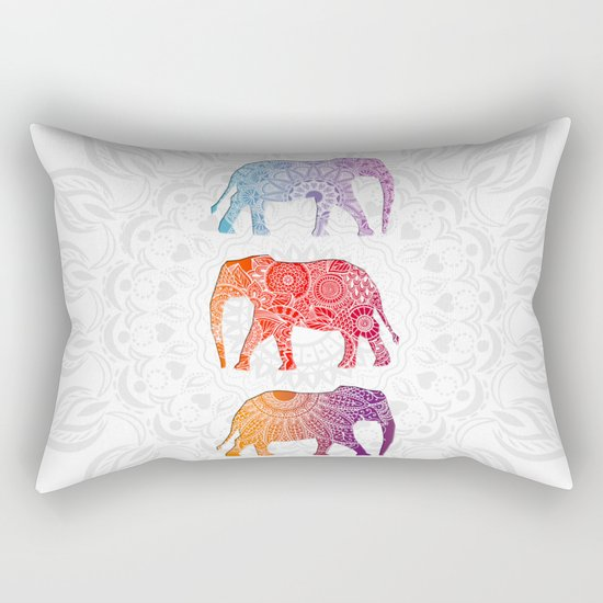 Elephantz II Rectangular Pillow