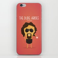 big lebowski iPhone & iPod Skins featuring  The Big Lebowski by BajuKhaju