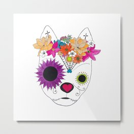Devereux Sugar Skull Metal Print