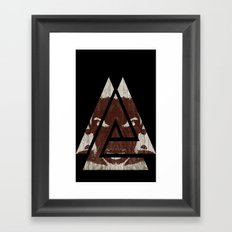 Angry Angles Framed Art Print