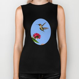 Hummingbird Happiness Biker Tank