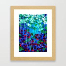 Abstract Flowers - No one knows her better Framed Art Print