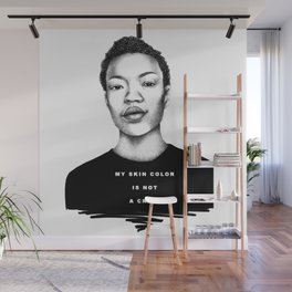 My skin color is not a crime Wall Mural